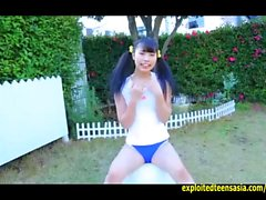 Gravure Idol Rina Naruse Teases In The Garden Then Pulls