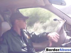 Border Officer Amazed By Sneaky Teen Stripper