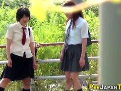 Bad japan teenagers pee