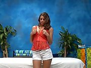Sexy teen fucked hard by her rubber