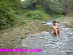 Heather Deep gets creampie on quad in river jungle