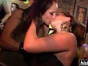 Smoking hot girls have fun with strangers