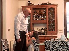 DADDY4K. Old dad isn't against hot quickie with son's...