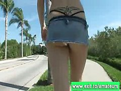 Risky public adventures with blonde teens