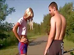 Outdoor girl fucking in public