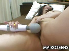 Saki Eguchi - Japanese Teen Enjoying Sex-Toys And Cock