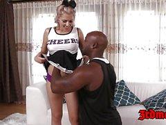 Teen girl Zoey is a black dick munching cheerleader