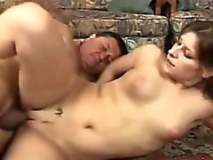 Young Slut Fucks Older Fat Man