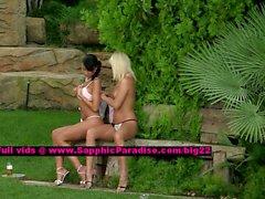 Jenny and Debby stunning lesbo girls undressing