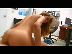 Hot brunette babe with a nice ass blows and gets banged hard