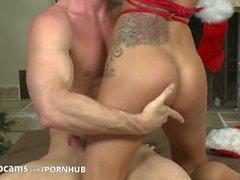 Pornstars Peta Jensen and Johnny Sins have some cam fun Part4