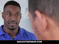 DaughterSwap - Ebony Teens Switch and Fuck Dads