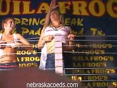 Wet t-shirt contest gets horny coeds go wild