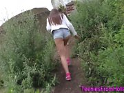 Dutch les teens outdoors