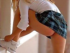 Mischievous schoolgirls