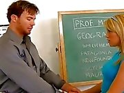 Sweet Schoolgirl Opens Pussy for Hot Teacher