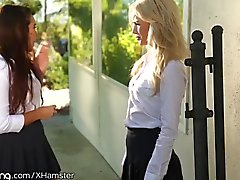 Elsa Jean and Karlee Grey Skip School to eat Pussy