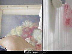 RubATeen Young Blonde Teen Gets A Massage!