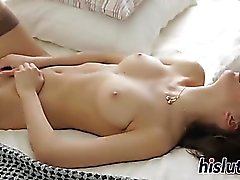 Stunning young Nika fingers her orgasmic pussy