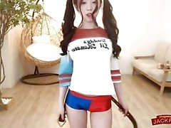 Harley Quinn cosplay - busty teenage korean girl