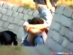 Voyeur Tapes Teens Fucking In The Park