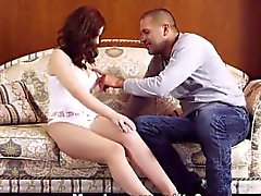 Sweet sweetie stretches slim pussy and gets deflorated