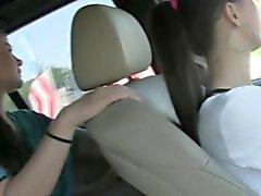 Lesbo teens fucking in public