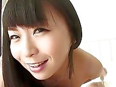 japanese babe blows a cock