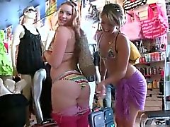 Horny babes are picked up from the part1