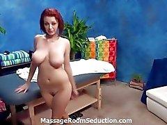 Sweet petite redhead pussy massage fucking