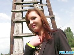 PublicAgent Her tight teen pussy almost too tight to fuck