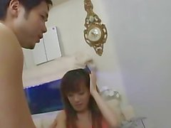 avmost - Half naked Japanese babe rides and wank her manÂ&amp