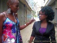 Africanblacklesbians Amazon Yaya Seduces Young Busty