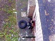 Fucks girl near the house on the street