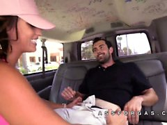 Kelsi Monroe drives around hooking up