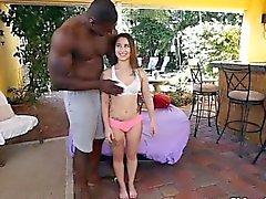 Cute little teen Kylie Rose railed by massive hard cock