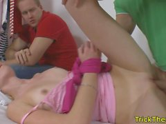 Cheating russian gf slammed in cuckold action
