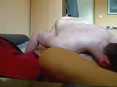 Chubby Teen Sucks Fucks Rims and Anal Creampie