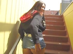 Hot German Amateur Teen exposed in public