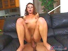 Busty brunette loves to serve cock