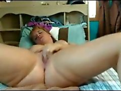 Fat Chubby Teen GF fingering and tasting her creamy Pussy