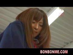Cute schoolgirl fucked by boy classmate in classroom