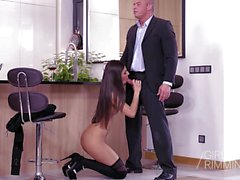 Brunette Angela Allison Having Sex With My Boss