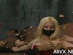 Naked babes roughly playing in bondage xxx clip