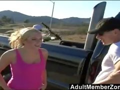 AdultMemberZone - Guys trick teen blonde into coming back to the studio.