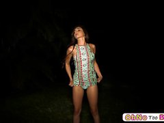 Michelle Taylor in an outdoor blowjob