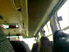 Jerking off in the public bus 2