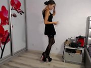 Hot tight asian teen ties hersef in solo tease