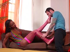 Ebony Marie Luv Loves White Cocks