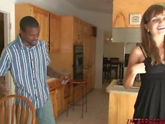Young girl Nika picked up and fucked by black stud